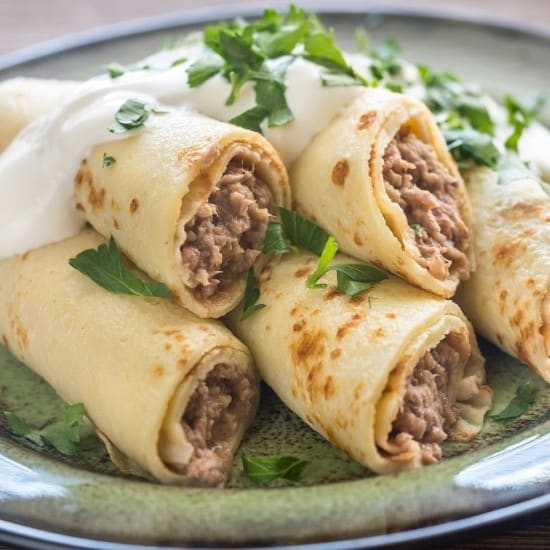 ground meat crepe